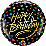 "Qualatex 58411 9"" Birthday Script Foil Balloon"