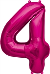 "16"" NUMBER 4 - MAGENTA FOIL AIR FILL"