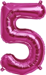 "16"" NUMBER 5 - MAGENTA FOIL AIR FILL"