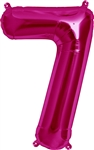 "16"" NUMBER 7 - MAGENTA FOIL AIR FILL"