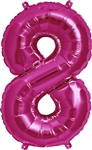 "16"" NUMBER 8 - MAGENTA FOIL AIR FILL"