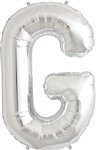 "16"" LETTER G - SILVER FOIL AIR FILL"