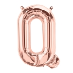 "16"" LETTER Q - ROSE GOLD FOIL AIR FILL"