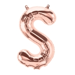 "16"" LETTER S - ROSE GOLD FOIL AIR FILL"