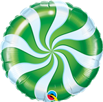 "18"" CANDY SWIRL GREEN FOIL"