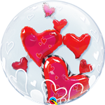 Double Bubble Lovely Floating Hearts Foil
