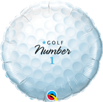 "18"" ROUND GOLF BALL NUMBER 1 FOIL BALLOON"