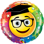 "Qualatex 73659 9"" Smiley Graduate Foil"
