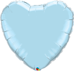 "36"" HEART PEARL LIGHT BLUE PLAIN FOIL"