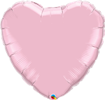 "36"" Heart Pearl Pink Foil"