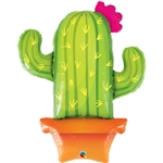 "39"" POTTED CACTUS SHAPE FOIL"