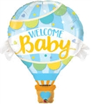 Welcome Baby Blue Large Foil