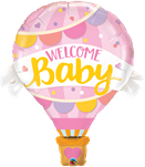 Welcome Baby Hot Air Balloon Supershape Foil