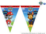 Paw Patrol Triangle Banner