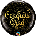 Qualatex 82277 Congrats Gold Doodles Foil