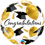Qualatex 82283 Congratulations Gold Balloons Foil