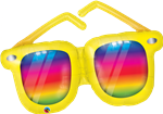 Qualatex 86250 Rainbow Striped Sunglasses Foil