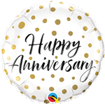 Qualatex 85847 Anniversary Gold Dots Foil