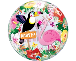 "22"" SINGLE BUBBLE TROPICAL BIRTHDAY PARTY"