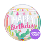 "22"" SINGLE BUBBLE LLAMA BIRTHDAY PARTY"