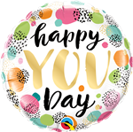 "Qualatex 88073 18"" HAPPY YOU DAY FOIL"