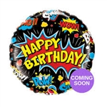 Super Hero Birthday Foil
