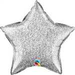 "20"" STAR GLITTERGRAPHIC FOIL BALLOON"