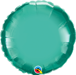 "18"" Round Chrome Green Foil"