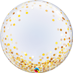 "24"" DECO BUBBLE GOLD CONFETTI DOTS"