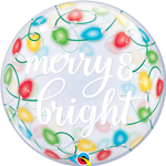Merry and Bright Christmas Bubble Balloon