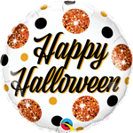 Qualatex 89740 Halloween Sparkly Dots Foil