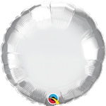 "Qualatex 89982 18"" Round Chrome Silver Foil"