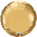 "Qualatex 89998 18"" Round Chrome Gold Foil"