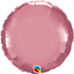 "Qualatex 90024 18"" Round Chrome Mauve Foil"