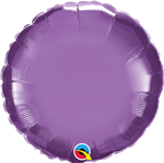 "Qualatex 90025 18"" Round Chrome Purple Foil"
