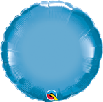 "Qualatex 90032 18"" Round Chrome Blue Foil"