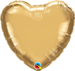 "Qualatex 90039 18"" Heart Chrome Gold Foil"