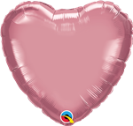 "Qualatex 90047 18"" Heart Chrome Mauve Foil"