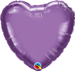 "Qualatex 90048 18"" Heart Chrome Purple Foil"