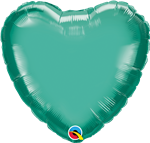 "Qualatex 90056 18"" Heart Chrome Green Foil"
