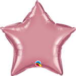 "Qualatex 90077 20"" Star Chrome Mauve Foil"