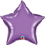 "Qualatex 90079 20"" Star Chrome Purple Foil"
