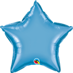 "Qualatex 90081 20"" Star Chrome Blue Foil"