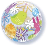 "22"" SINGLE BUBBLE SPRING BUNNIES & FLOWERS"