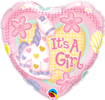 Heart It's A Girl Sof Pony Foil