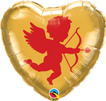 "18"" HEART CUPID FOIL"