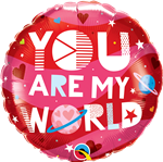 "18"" ROUND YOU ARE MY WORLD FOIL"