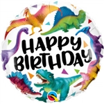 HAPPY BIRTHDAY COLOURFUL DINOSAUR