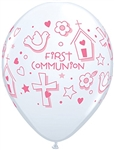 Qualatex 97493 Pink First Communion Latex