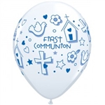 Qualatex 97494 Blue First Communion Latex